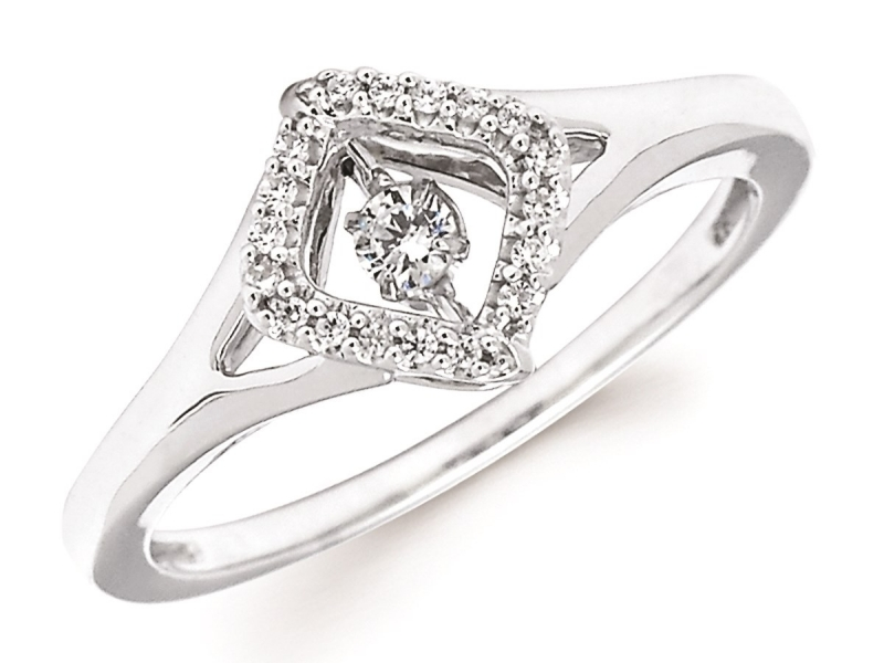 Rings - SS Shimmering Diamond Ring - image #2