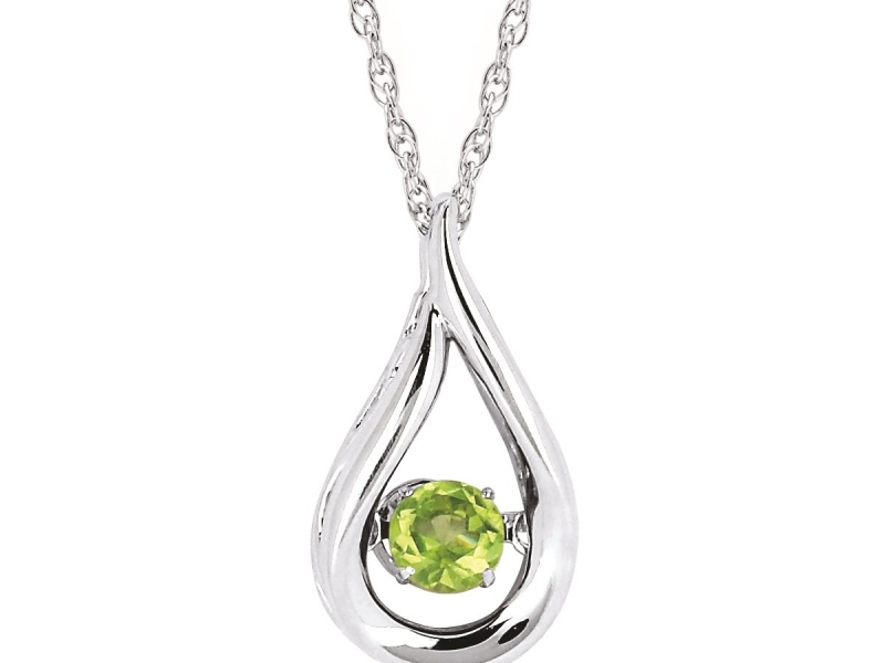 Pendants & Necklaces - Peridot Shimmering Pendant - image #2