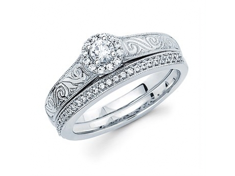 Bridal Jewelry - Halo Engagement Ring