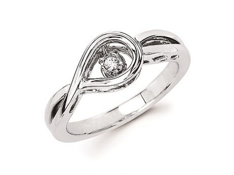 Shimmering Diamond  - Silver Shimmering Diamond Ring
