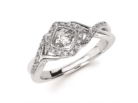 Shimmering Diamond  - Halo Shimmering Diamond Ring