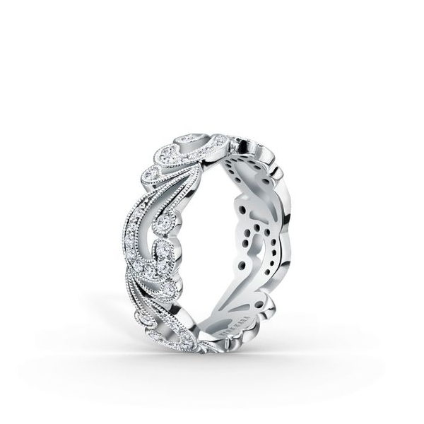 Wedding Band - Lady's White 18 Karat
