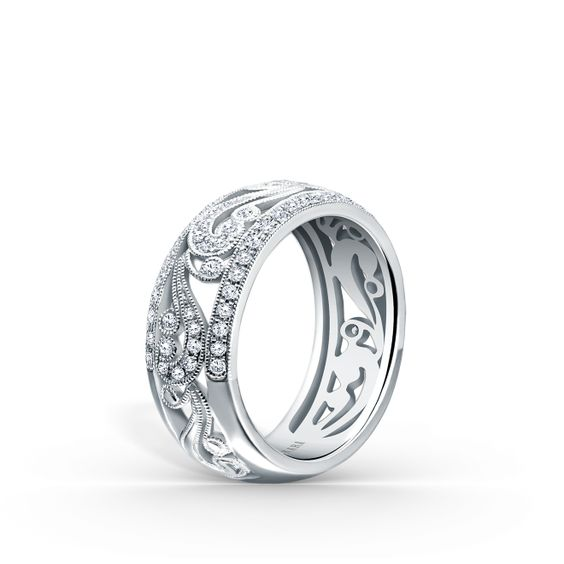 Wedding Band - Lady's White Gold 18 Karat
