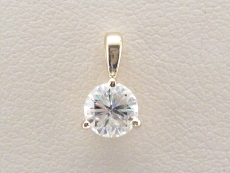 Pendant - Lady's Yellow Gold 14 Karat Martini Pendant With 0.53Ct Diamond-H Color, I1 Clarity- Fire Polish