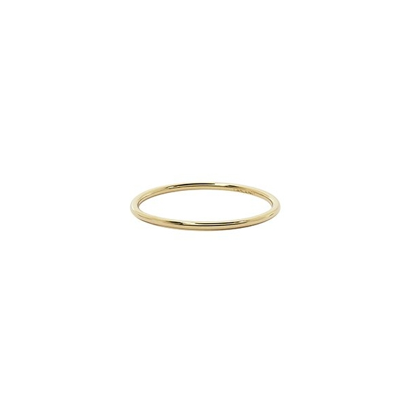 Ring - Lady's Yellow Gold 14 Karat Stackable Ring Size 7