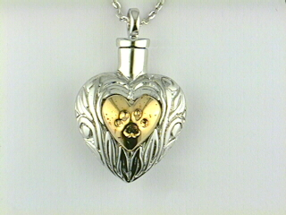 Charm - Sterling Silver Pet Ash Pendant Pendant On An 18