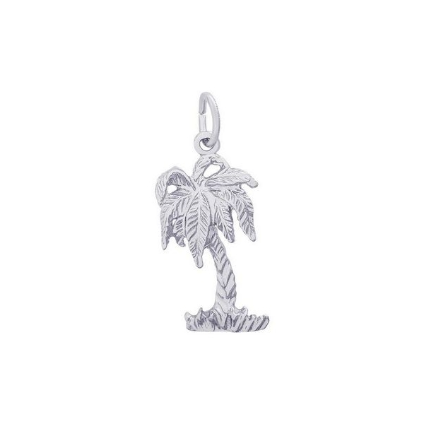 Charm - Sterling Silver Palm Tree Charm