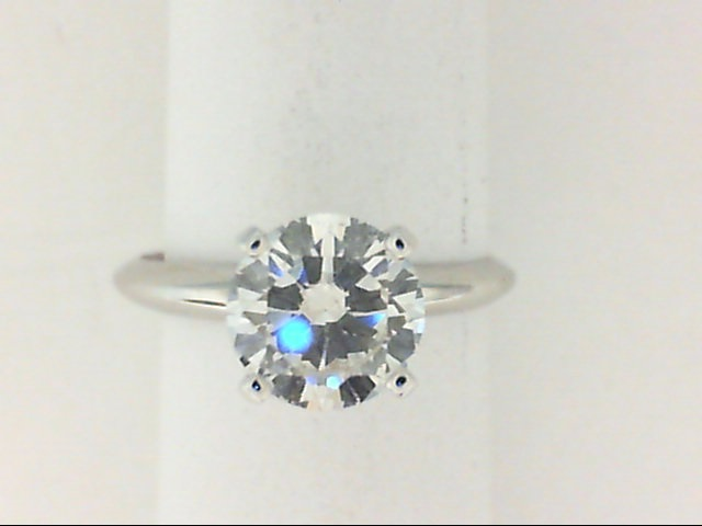Engagement Ring - 14Kw 1.26Ct Round Diamond Solitaire