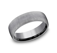 Wedding Band - 6.5Mm Tantalum Wedding Band Swirl Finish
