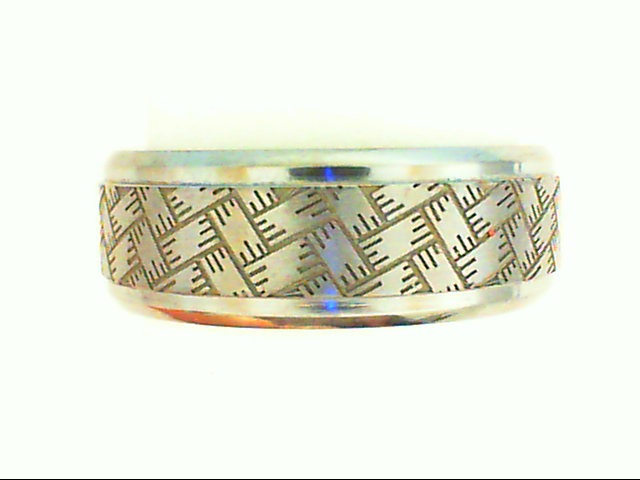 Wedding Band - 8Mm Tantalum Wedding Band Threaded Weave Design