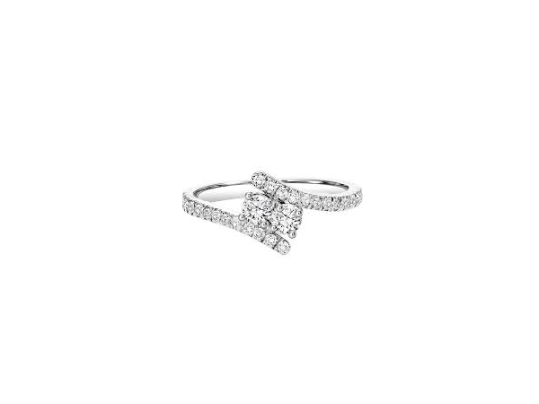 Womens Diamond Fashion Ring - S/S Twogether Ring   With 0.26Tw Round Diamonds