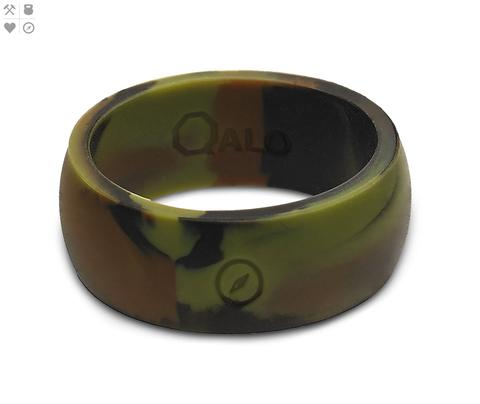 Wedding Band - Men's Athletics Camo Silicone Ring Size 10