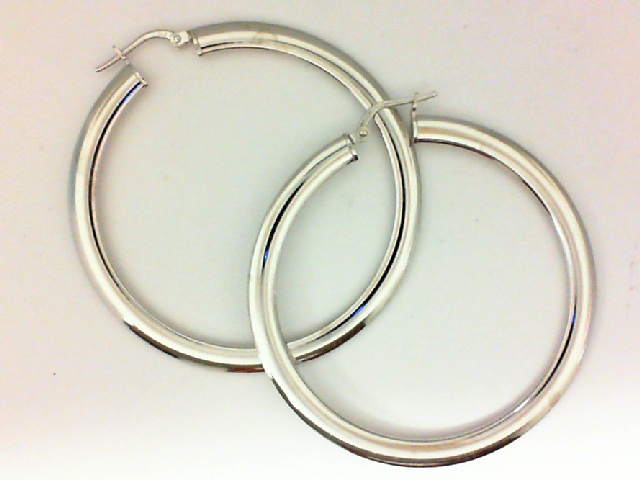 Earrings - Sterling Silver Flat Hoop Earrings