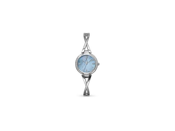 Davos Watch - Ladies St-St Lacroix Watch Blue Mother Of Pearl Dial Swarovski Crystals