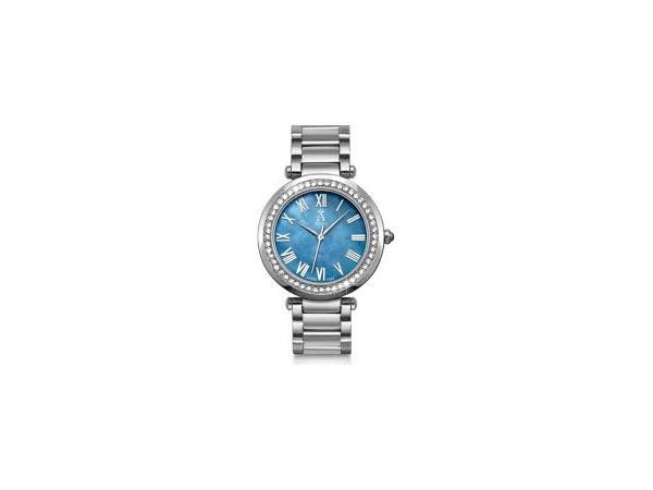 Davos Watch - Ladies St-St La Croix Watch  W/Mother Of Pearl Dial, Sapphire Crystal  & Swarovski Crystals