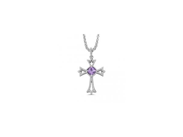 Jewelry - Colore~7CSG Amethyst Cross Necklace