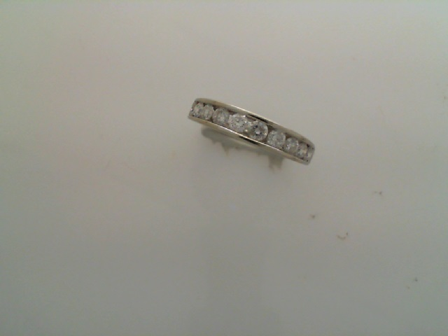 Wedding Band - Channel Diamond Band 3/4 tdw color H clarity SI2 14 karat white