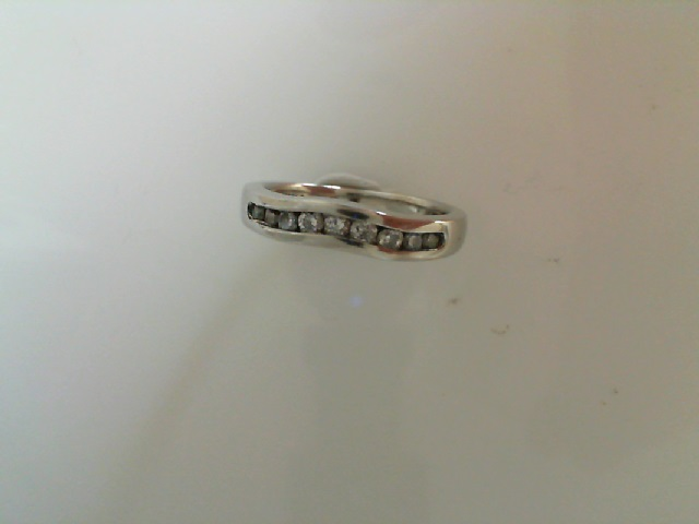 Wedding Band - Curved Channel Band 1/3 tdw Platinum