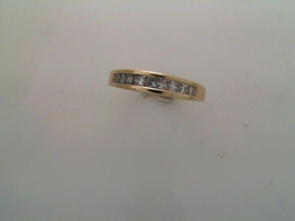 Wedding Band - Channel Princess Cut Band .60 tdw 14 karat yellow