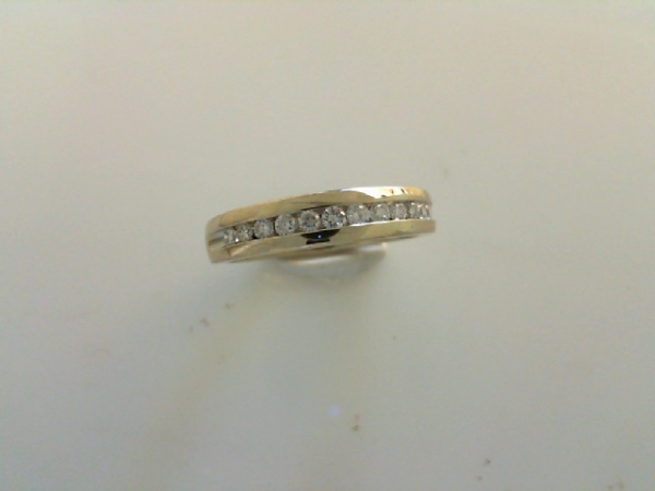 Wedding Band - Channel Diamond Band  14 karat white