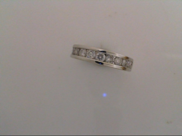 Anniversary Ring - Diamond Channel Band 14 karat white 1 carat tdw