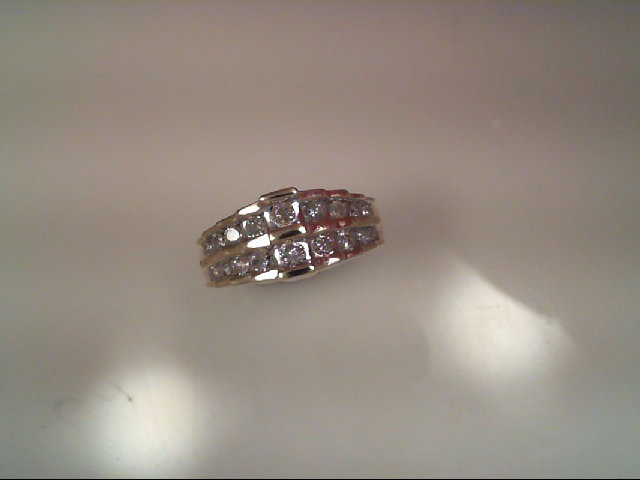 Anniversary Ring - Double Row Diamond Band 1/2 tdw