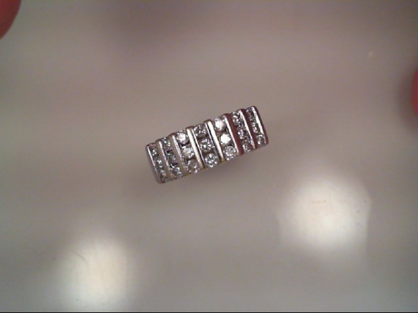 Anniversary Ring - Triple Row Bar Set Anniversary Band 1 carat tdw
