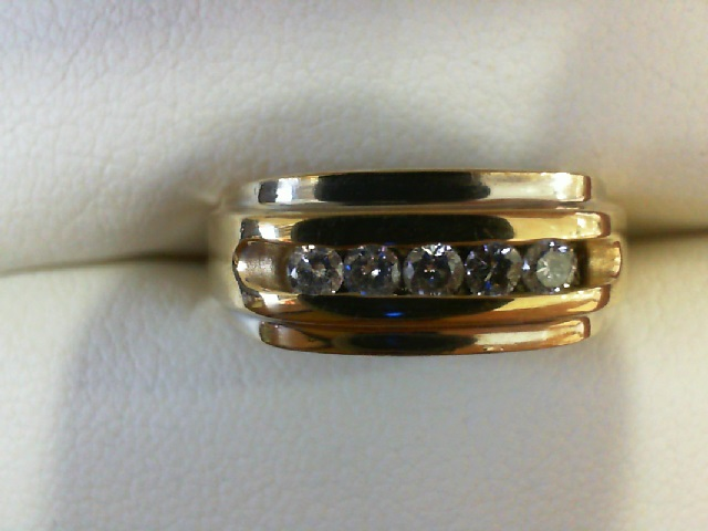 Anniversary Ring - Channel Mens Band 14 karat yellow