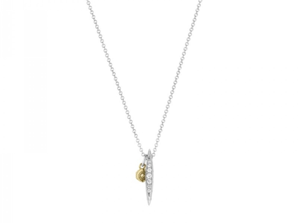 Necklace - Tacori: Ivy Lane Marquise Design Necklace .12 tdw 18 inch sterling & 18 karat