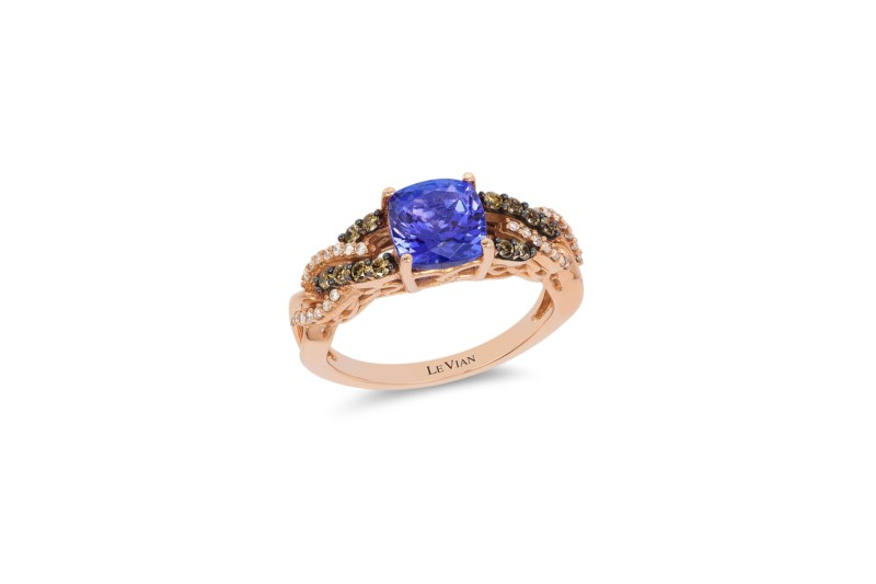 Fashion Ring - LeVian Cushion Tanzanite & Chocolate Diamond Ring