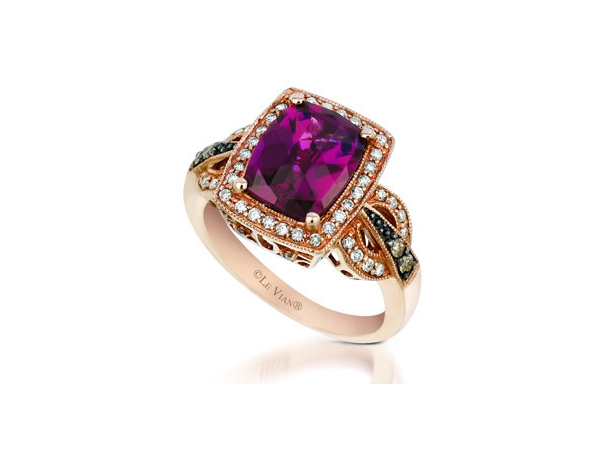 Fashion Ring - LeVian Raspberry Rhodolite & Diamond Ring