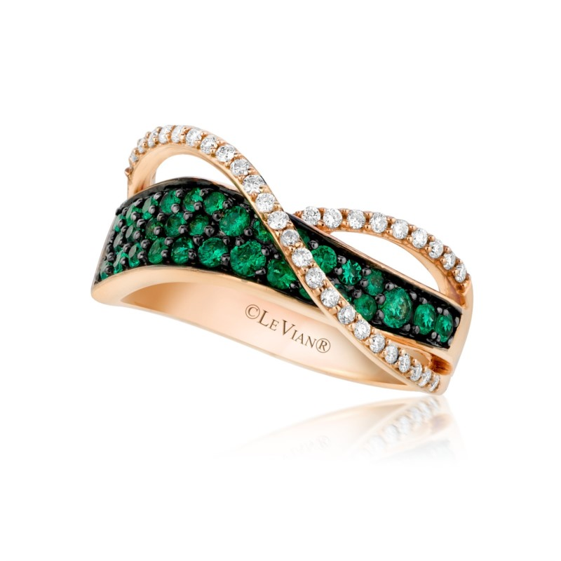 Fashion Ring - LeVian Emerald & Diamond Ring