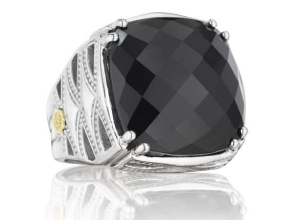 Fashion Ring - Tacori: Black Onyx Classic Rock Ring 18K 925