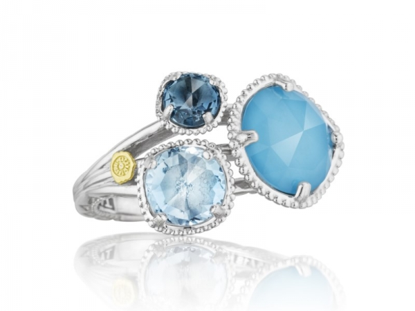 Fashion Ring - Tacori: London,Sky Blue Topaz & Neo-Turquoise Ring 18K 925