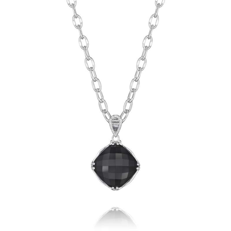 Necklace - Tacori Fashion Onyx Pendant sterling silver & 18 karat
