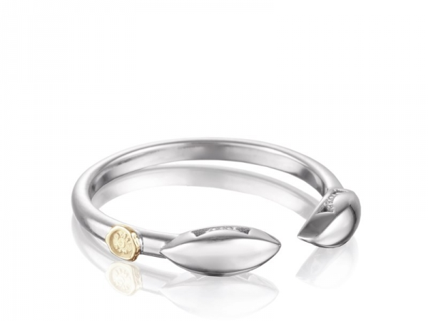 Fashion Ring - Tacori: Ivy Lane Stackable Ring silver & 18 karat