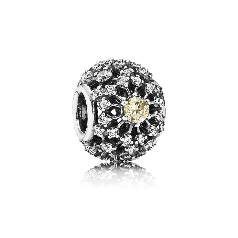 Pandora - Inner Radiance, Golden-Colored & Clear CZ