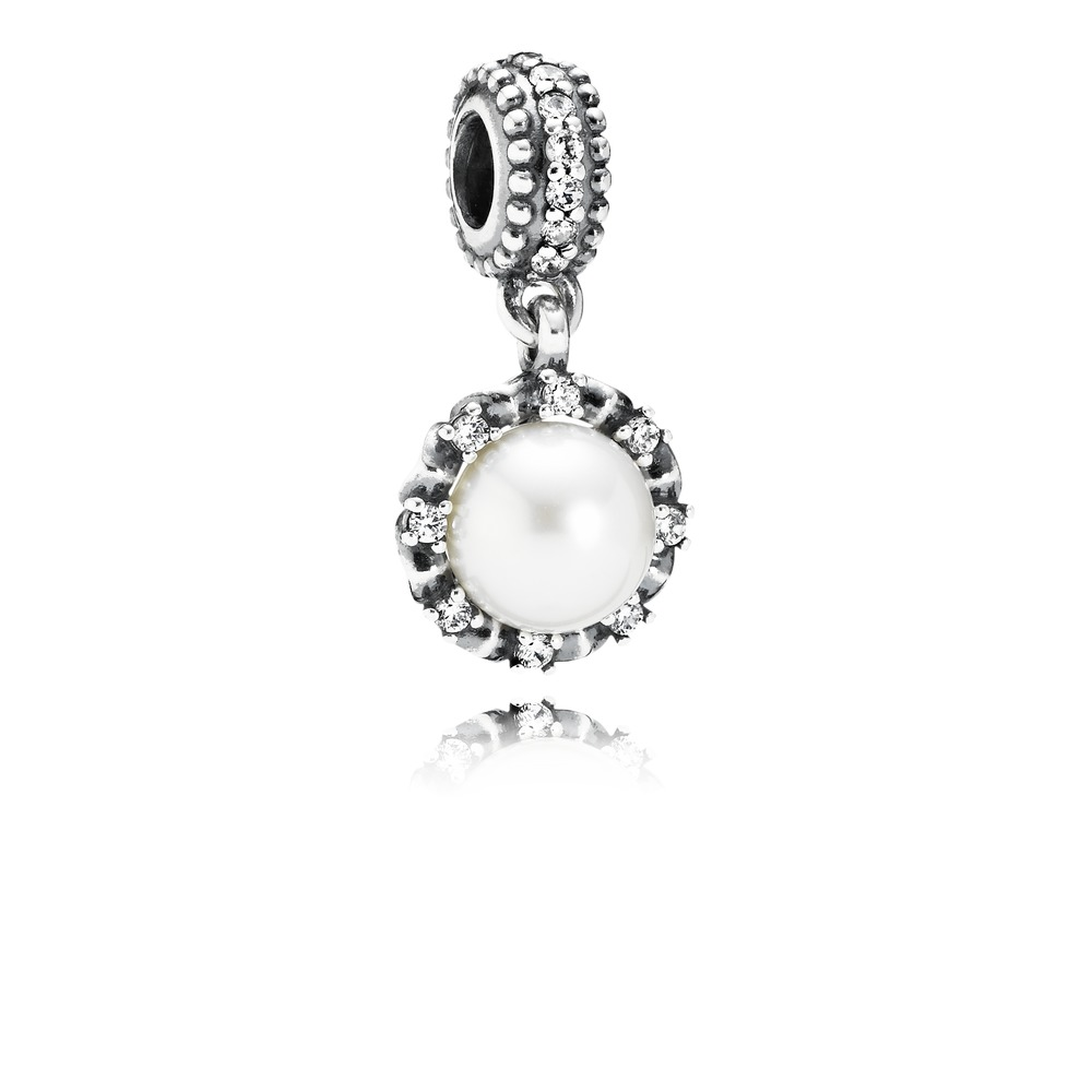 Pandora - Everlasting Grace, White Pearl & Clear CZ
