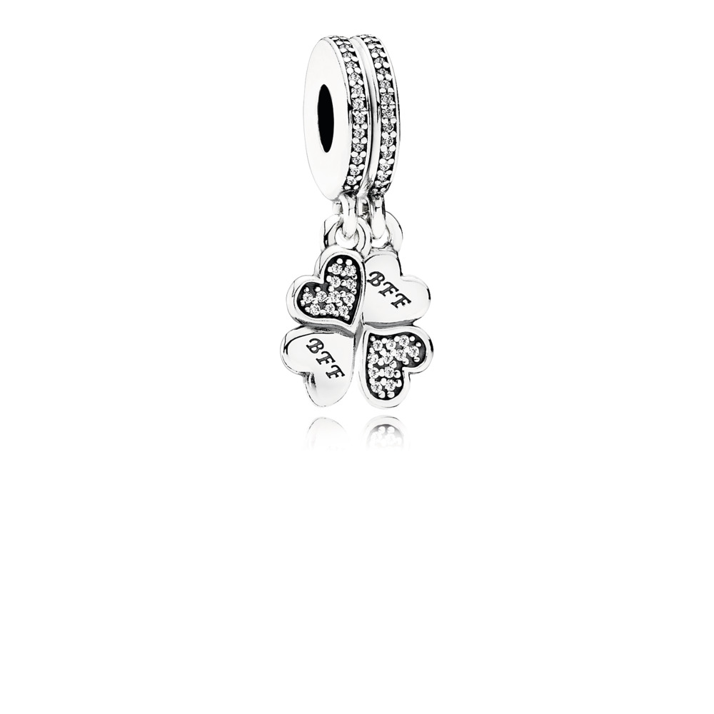 Pandora - Dangle Best Friends Forever with Clear Cubic Zirconia