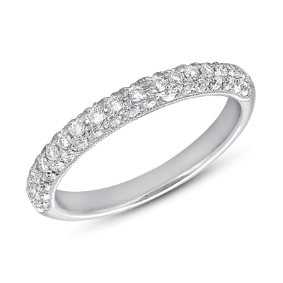 Wedding Band - New piece! S.Kashi .51ctw diamond wedding band in 14kw gold, size 6. This ring is sizable, please call for pricing.