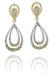 Earrings - New Piece! Alwand Vahan sterling silver and 14ky gold dangle earrings with .35ctw of diamonds.