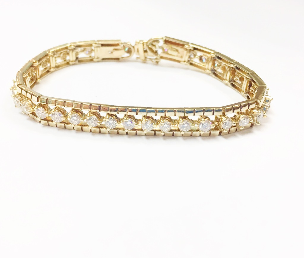 Bracelet - Estate Piece! Lady's 14Kyg 4.2Ctw G, Si Bracelet Length 7
