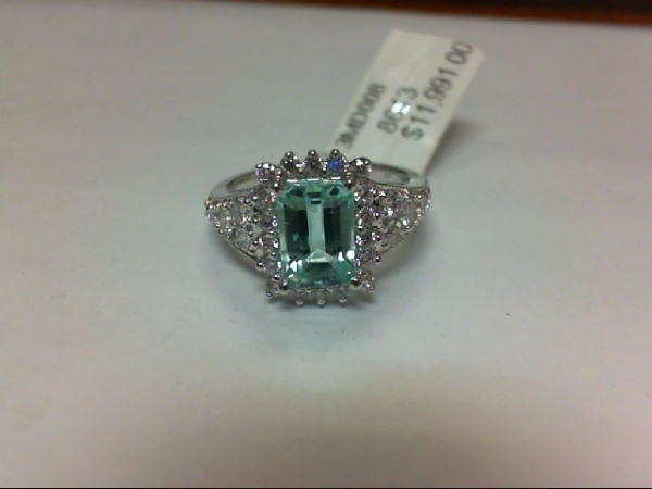 Fashion Ring - New piece! 1.39ct AGL certified paraiba tourmaline and .56ctw diamond ring in 18kw gold, size 6.