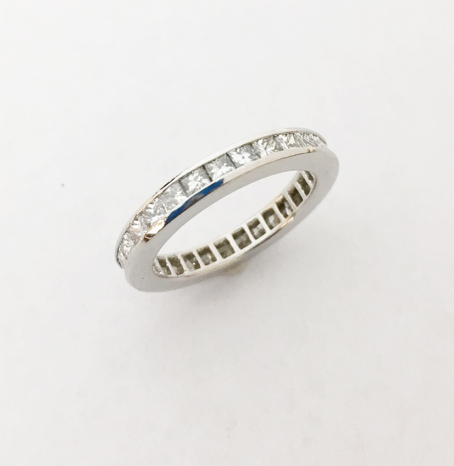 Wedding Band - Estate Piece!  .50ctw diamond eternity band in platinum.  Size 5.5 cannot be sized