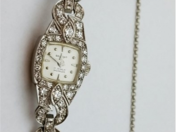 Watch - Estate piece! 2ctw diamond vintage Belfont watch.