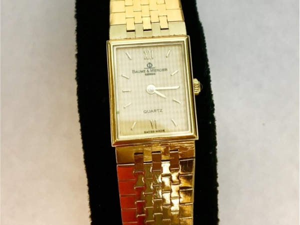 Watch - Estate Piece! Ladies 18Kyg Qtz Baume & Mercier Watch 34.9g