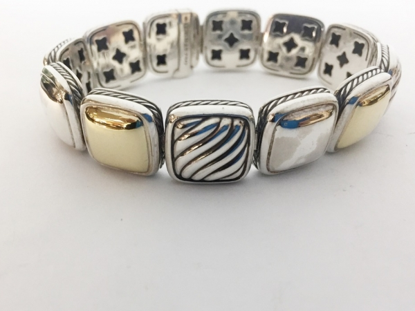 Bracelet - David Yurman Ss/18Kg 12 Station Bracelet Length 7.5