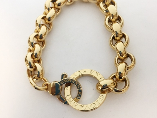 Bracelet - New piece! Giovanni Raspini 18ky gold plated sterling silver 13mm link bracelet, 8.5 inch.