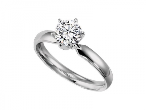 1/2ct Diamond Solitaire Engagement Ring - .50 ct Diamond Solitaire Engagement Ring set in 14kt WG mounting.