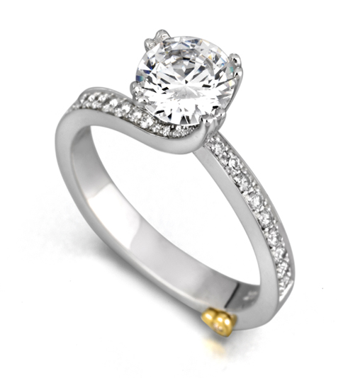 Clarity by Mark Schneider - Clarity ring by Mark Schneider - The Clarity engagement ring contains 31 diamonds, totaling 0.245 ctw. Center stone sold separately, not included in price.